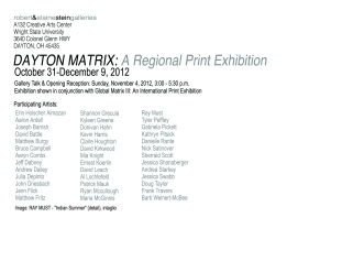Dayton Matrix: A Regional Print Exhibition